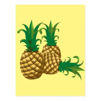 Frucht mit drei Ananas Postkarte