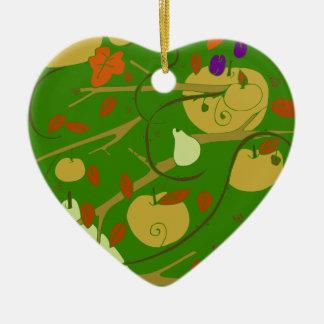 Frucht-Schablone Keramik Herz-Ornament