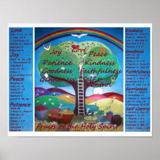 Früchte des Geist-Plakats mit Versen - MED-Größe Poster