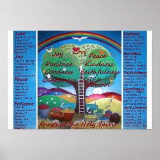 Früchte des Geist-Plakats mit Versen Poster