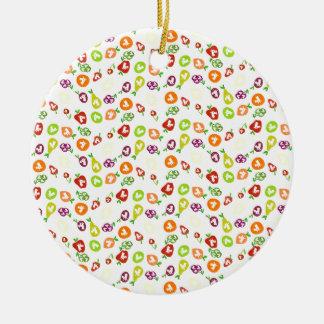 Fruchtige Einhörner Rundes Keramik Ornament
