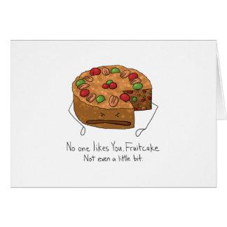 Fruchtkuchen - niemand mag Sie Karte