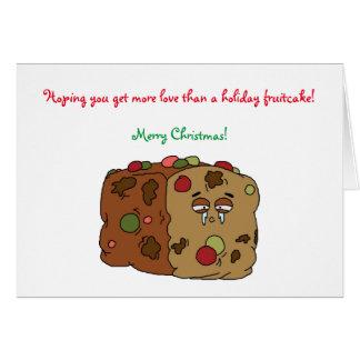 Fruchtkuchen-Weihnachtskarte Karte