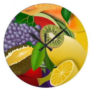 Fruchtsalat Große Wanduhr