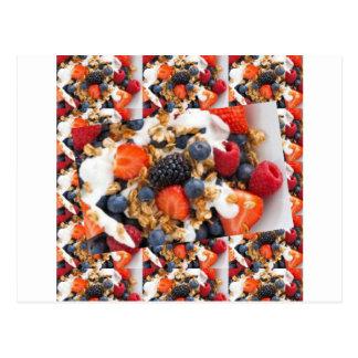 Fruchtsalat-NahrungsmittelKochs-gesunde Postkarte