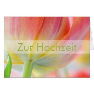 Fruehling • Glueckwunschkarte Hochzeit Karte