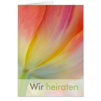 Fruehling • Hochzeitseinladung Grußkarte