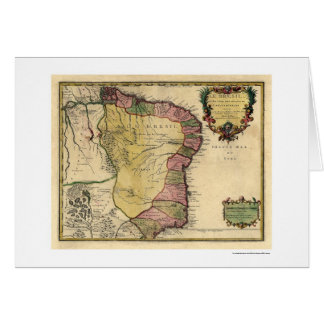 Frühe Brasilien-Karte 1719 Karte