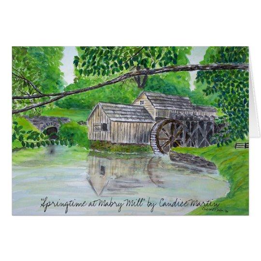 """Frühjahr an Mabry Mühle"" Karte"