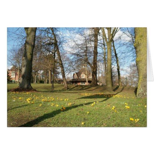 Frühjahr, Bournville grüne Gruß-Karte Grußkarte