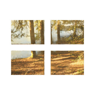 Frühjahr-Waldteich Leinwanddruck