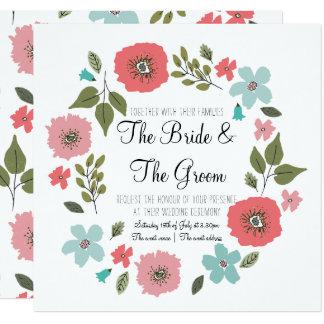 Frühjahr-Wildblumen, die Einladung Wedding sind