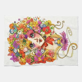 FrühjahrReverie Retro Shoujo Japan Blumen-Mädchen Küchentuch