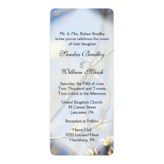 Frühling blüht Hochzeit 10,2 X 23,5 Cm Einladungskarte