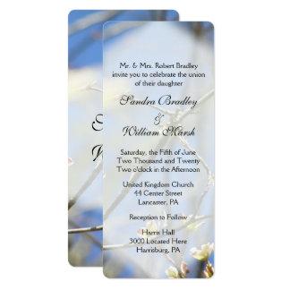 Frühling blüht Hochzeits-Einladung Karte