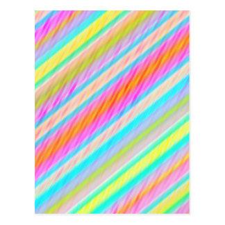 Frühling färbt multi Faden-Digital-Kunst-Postkarte Postkarte
