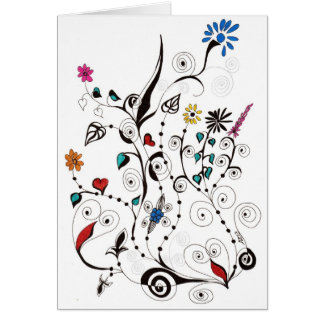 Frühling Flowers_2 Grußkarte