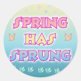 Frühling hat entsprungenen Aufkleber