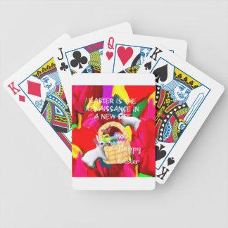 Frühling holt Farben und Freude zu Ostern Spielkarten