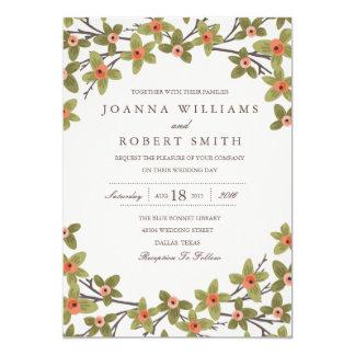 Frühling knospt Hochzeits-Einladung 12,7 X 17,8 Cm Einladungskarte