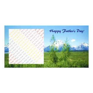Frühling Tetons der Vatertag Individuelle Foto Karten