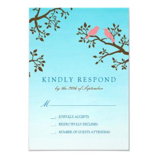 Frühling verzweigt sich Hochzeit UAWG Antwort 8,9 X 12,7 Cm Einladungskarte