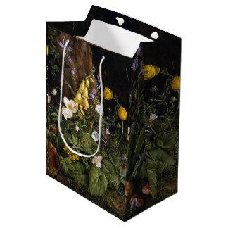 Frühlings-alpine Wildblume-Blumen-Geschenk-Tasche Mittlere Geschenktüte