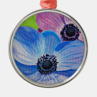 Frühlings-Anemonen Silbernes Ornament