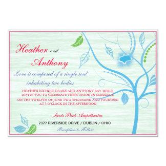 Frühlings-blaue Hochzeits-Einladung 12,7 X 17,8 Cm Einladungskarte