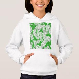 Frühlings-Blume weiß und grün Hoodie