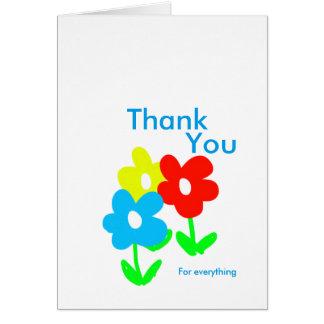 Frühlings-Blumen danken Ihnen für alles Karte