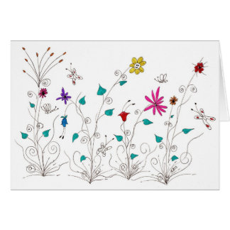 Frühlings-Blumen Grußkarte