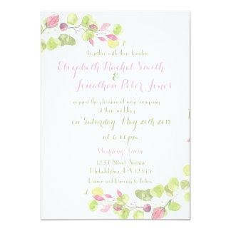 Frühlings-Blumenhochzeits-Einladung Karte