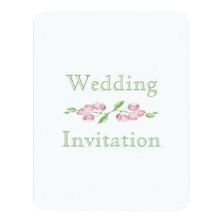Frühlings-Blumenkirschblüten-Hochzeits-Einladung 10,8 X 14 Cm Einladungskarte