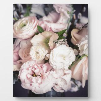 Frühlings-Blumenstrauß im Pastell Fotoplatte