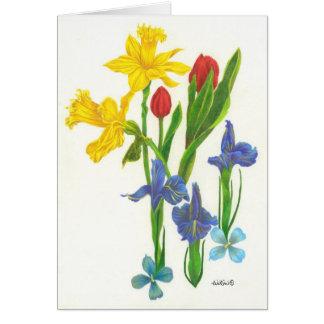 Frühlings-Blumenstrauß Karte
