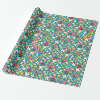 Frühlings-Blumenwiese Geschenkpapierrolle