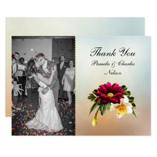 Frühlings-Blüten-Foto-Hochzeit danken Ihnen zu 12,7 X 17,8 Cm Einladungskarte