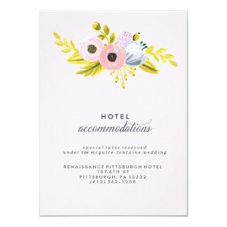 FRÜHLINGS-BLÜTENblumenhotelunterbringungskarte 11,4 X 15,9 Cm Einladungskarte