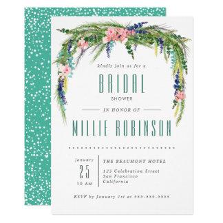 Frühlings-Brautparty laden mit Watercolor-Blumen Karte