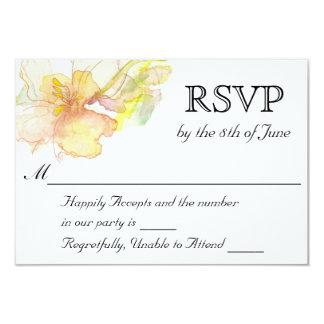 Frühlings-Fantasiewatercolor-Blumenhochzeit UAWG 8,9 X 12,7 Cm Einladungskarte