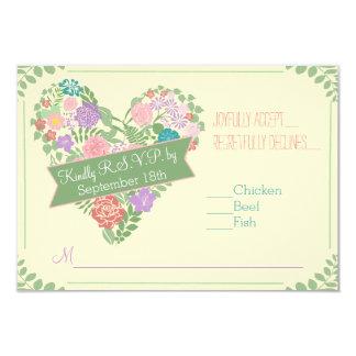 Frühlings-Garten-Blumen-Hochzeit UAWG 8,9 X 12,7 Cm Einladungskarte