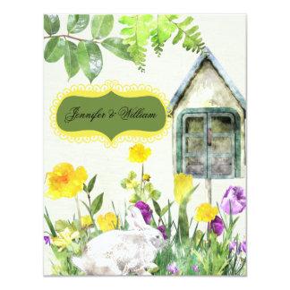 Frühlings-Garten-Hochzeit UAWG Karte 10,8 X 14 Cm Einladungskarte