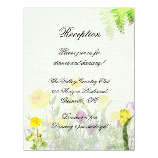 Frühlings-Garten-Hochzeits-Empfangs-Karte 10,8 X 14 Cm Einladungskarte