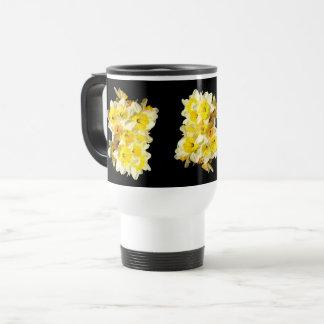 Frühlings-gelbe Narzissen-Bündel-Reise-Tasse Reisebecher