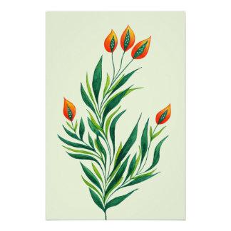 Stylische gr ne pflanzen kunst poster for Stylische pflanzen