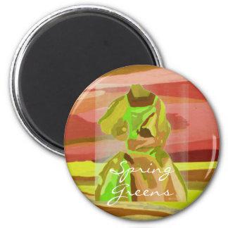 Frühlings-Grüntöne- Magnet - kundengerecht Kühlschrankmagnete