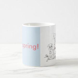 Frühlings-Häschen-Cartoon-Tasse Kaffeetasse