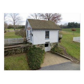 Frühlings-Haus. Carroll County Bauernhof-Museum Postkarte