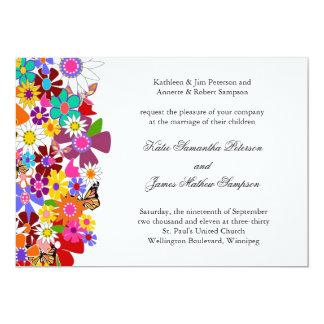 Frühlings-Hochzeits-Einladung 12,7 X 17,8 Cm Einladungskarte